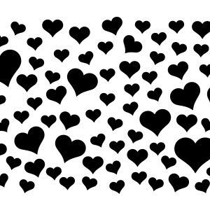 Heart Confetti Stencil-0