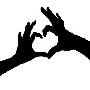 Heart Hands Stencil-0