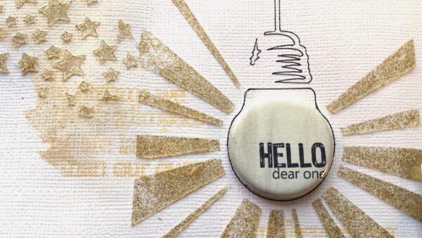 Light Bulb Stencil-1065