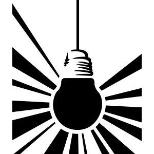 Light Bulb Stencil-0