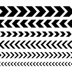 Line of Chevrons Stencil-0