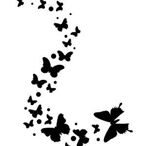 Butterfly Swarm Stencil-0