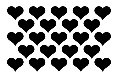 Chunky Heart Stencil-0