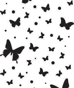 Butterfly Confetti Stencil-0