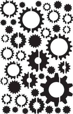 Gear Confetti Stencil-0