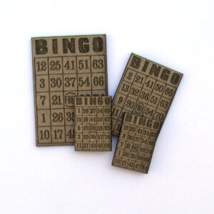 Miniature Bingo Card MASH-0