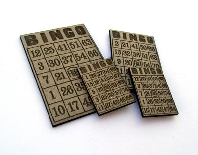 Miniature Bingo Card MASH-1375