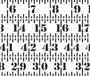 Measuring Tape Stencil-0