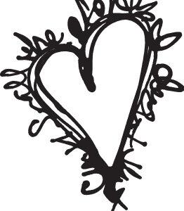 Scribble Heart Mask-0