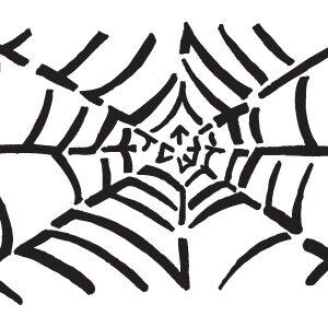 Spider web stencil-0