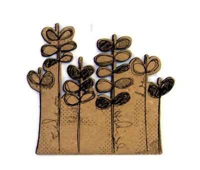 Doodle Flower Garden Chip n Stamp-0