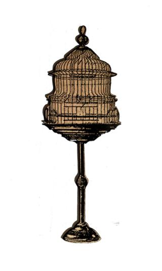 Standing Bird Cage Chip n Stamp-0