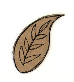 Doodle Leaf Chip n Stamp-0