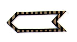 Striped Border Arrow Chip n Stamp-0