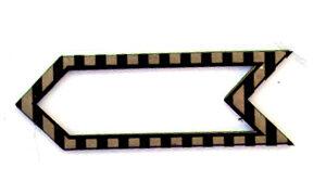 Striped Border Arrow Refill-0