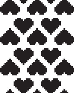 Pixelated Heart Stencil-0