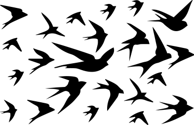 Flight Of The Swallows Stencil-0