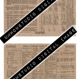 Chemical Warfare Pocket Reference Card-0
