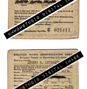 Enlisted Man's ID Card (Front & Back)-0