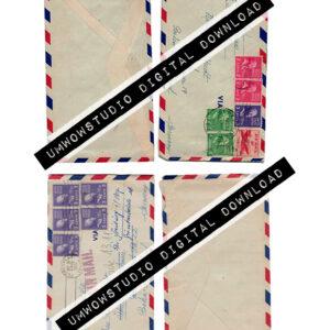Albrecht Air Mail Envelopes (2 front & Back)-0