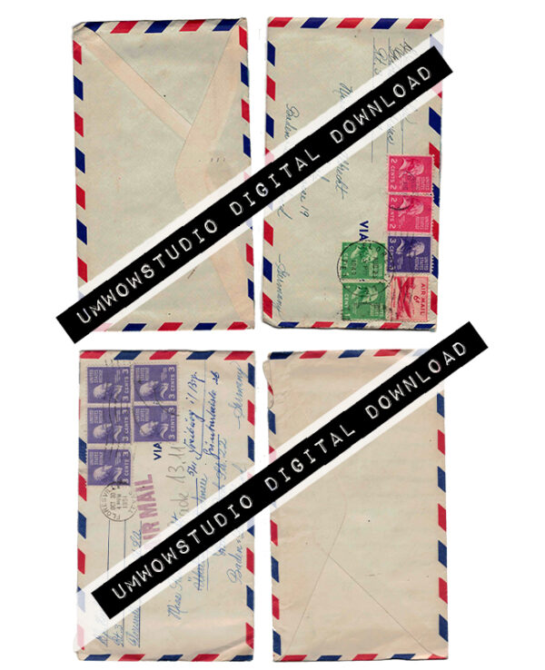 Albrecht Air Mail Envelopes (2 front & Back)-0