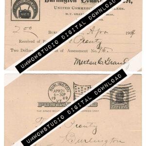 1909 Burnlington Council Postal Card-0