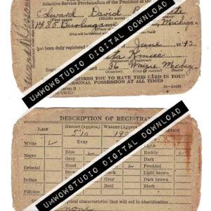 Draft Registration Card (Front & Back)-0