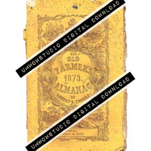 1873 Farmer's Almanac Cover-0