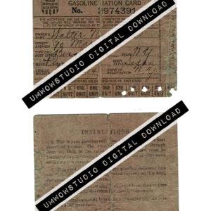 Gasoline Ration Card-0