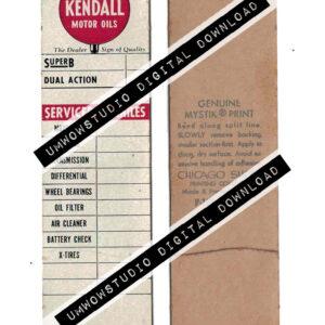 Kendall Motors Service Sticker-0