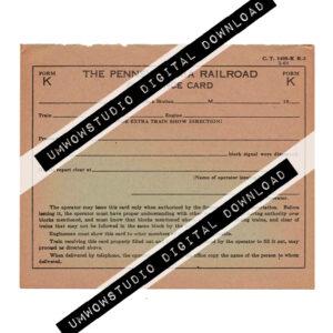 PA Railroad Clearance Card-0