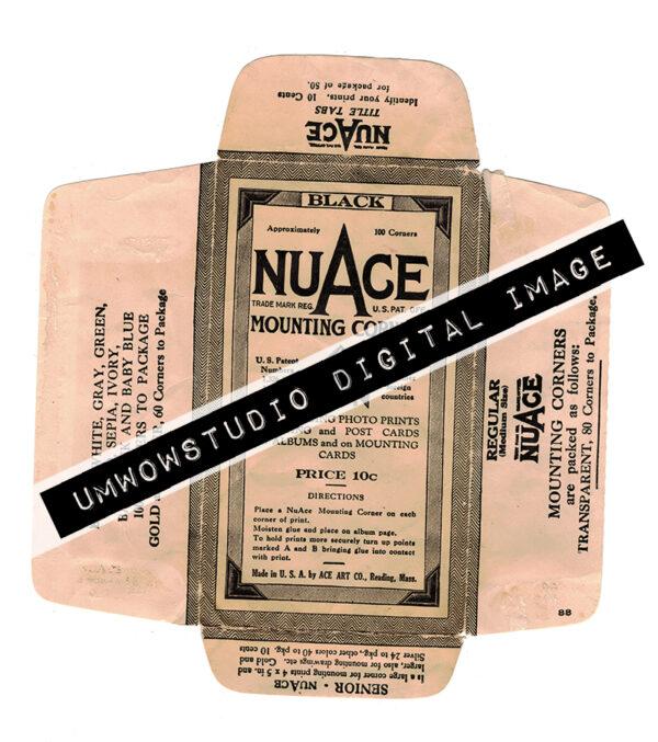 Vintage BLACK Photo Corners Envelope-0