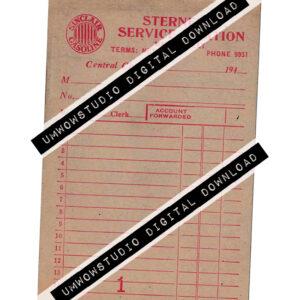 Sterner's Service Station Form BLANK-0