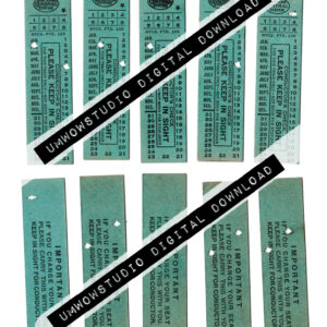 Teal New York System Train Tickets (fronts & backs)-0