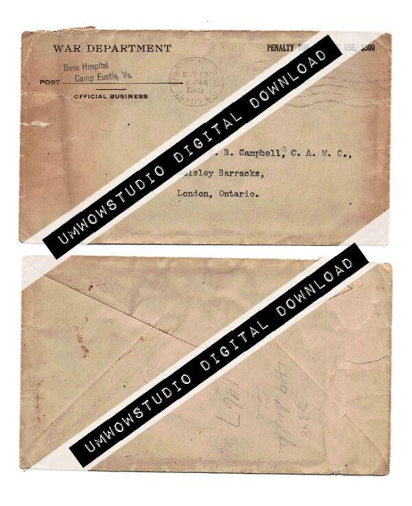 War Department Envelope (Front & Back)-0