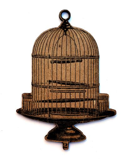 Wire Bird Cage Chip n Stamp-0