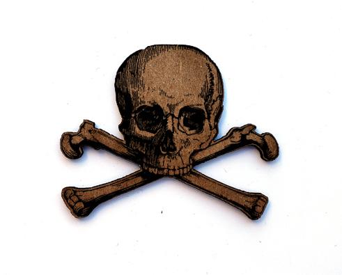 Skull & Crossbones Chip n Stamp-0