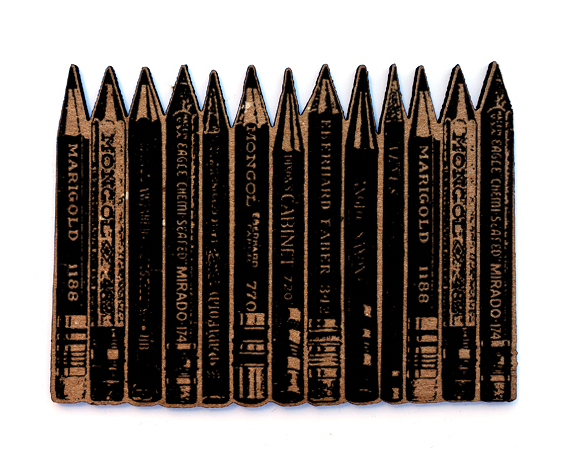 Row of Pencils Chip n Stamp-0