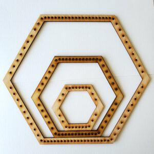 Hexagon Frame Loom - Medium-0