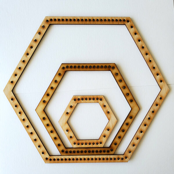 Hexagon Frame Loom - Medium-0