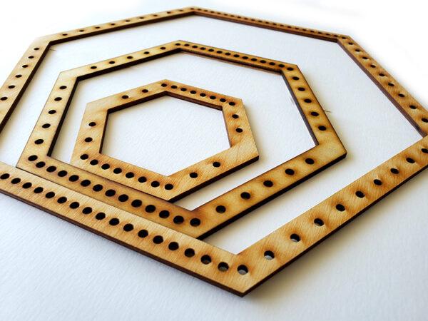 Hexagon Frame Loom - Full Set-16900