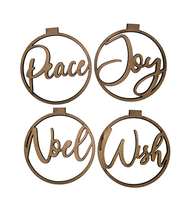 Peace, Joy, Wish, Noel Ornaments-0